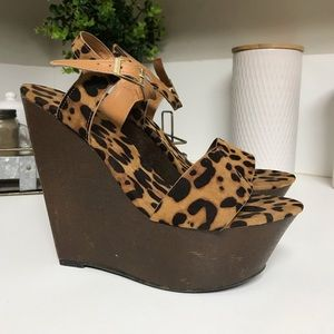 Cheetah Bamboo Wedges